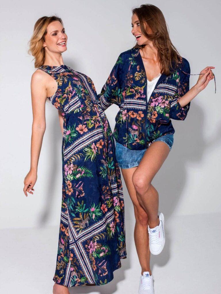 Rochie lungă cu model floral