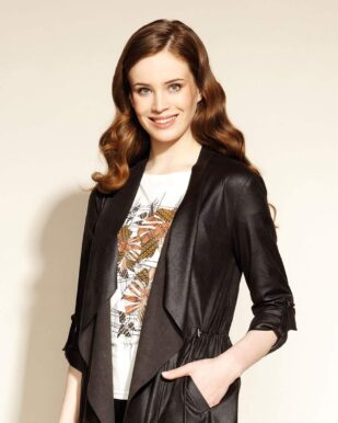 Jachetă neagră imitație piele