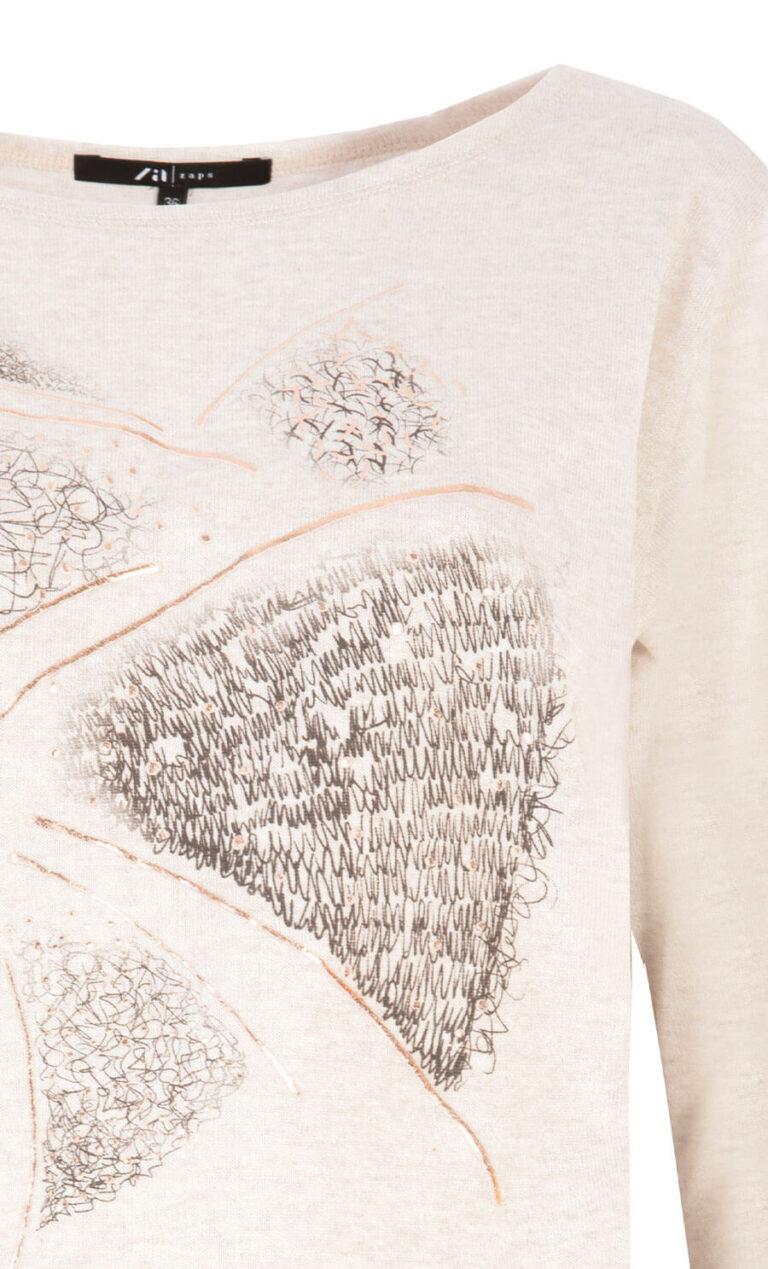 Bluză casual cu imprimeu abstract